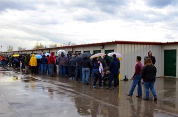Auction Line Up - StorageVille - Winnipeg, Manitoba