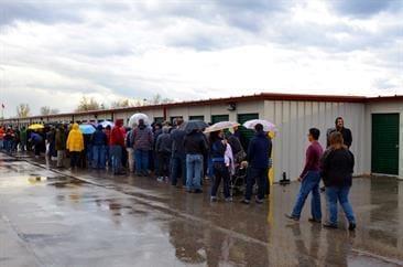 Auction Line Up - StorageVille - Winnipeg, Manitoba