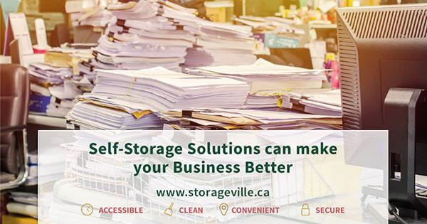 Self-storage solutions can make your business better - Business Self-Storage - Storage Winnipeg - Winnipeg Commercial Storage - StorageVille
