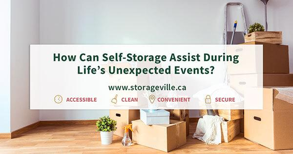Self-storage for life's unexpected events - Self-Storage Winnipeg - Winnipeg Self-Storage - StorageVille