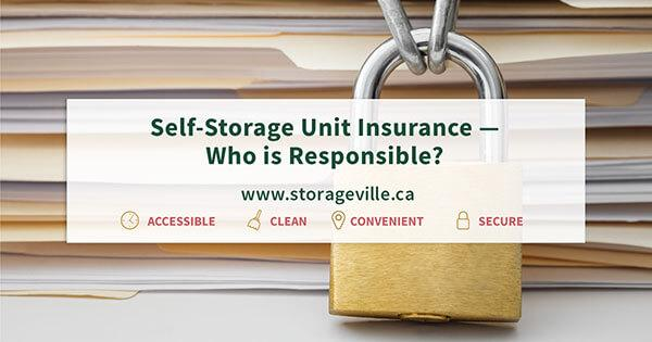 Self-storage Unit Insurance Winnipeg - Self-Storage Winnipeg - Winnipeg Self-Storage