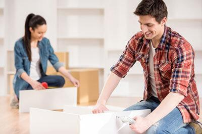 Disassemble furniture Use the same size of box - self storage unit organization - Self Storage Winnipeg - Winnipeg Self Storage Unit - StorageVille
