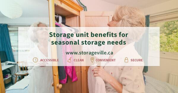 Storage unit benefits for seasonal storage needs - Seasonal Storage Winnipeg - Winnipeg Storage Units - Storage Unit Winnipeg - StorageVille