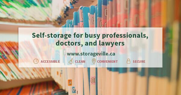 Self-storage for busy professionals, doctors, and lawyers - Winnipeg Secure Storage - Self-Storage Winnipeg - Winnipeg Storage Units - StorageVille