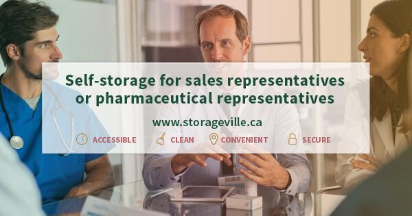 Self-storage for sales representatives or pharmaceutical representatives - Secure Storage Winnipeg - Winnipeg Self-Storage - Storage Units Winnipeg - StorageVille