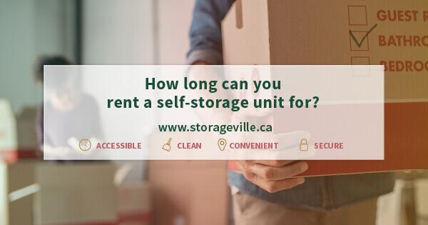 How long can you rent a self-storage unit for? - Self Storage Winnipeg - Winnipeg Storage Units - StorageVille Winnipeg, Manitoba