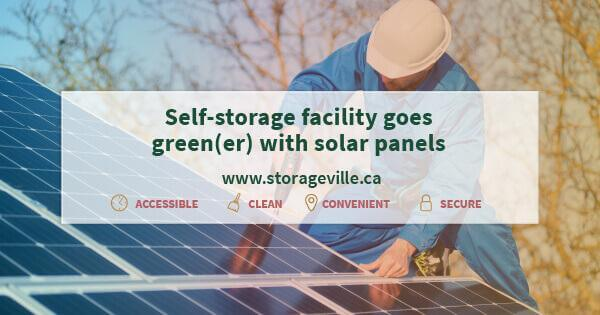 Self-storage facility goes green(er) with solar panels - Winnipeg Storage - Self Storage Winnipeg - StorageVille Winnipeg, Manitoba