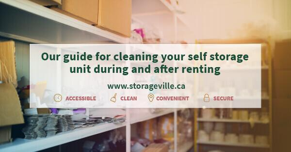 Our guide for cleaning your self storage unit during and after renting - Self Storage Winnipeg - Winnipeg Storage Units - StorageVille Winnipeg, Manitoba