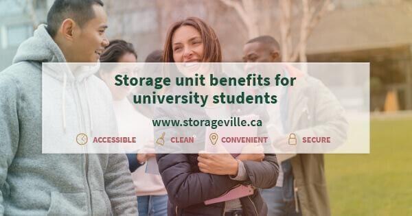 Storage unit benefits for university students - University Students Storage Winnipeg - Winnipeg Storage Units - StorageVille