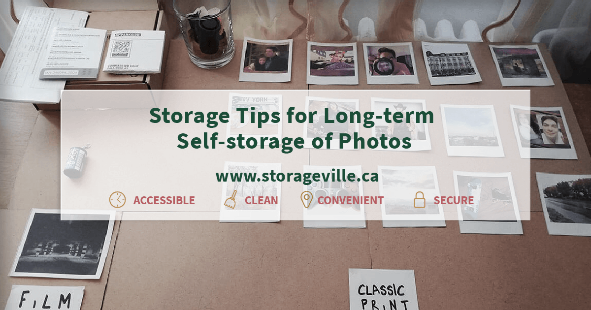 how to store photos slong term in storage units