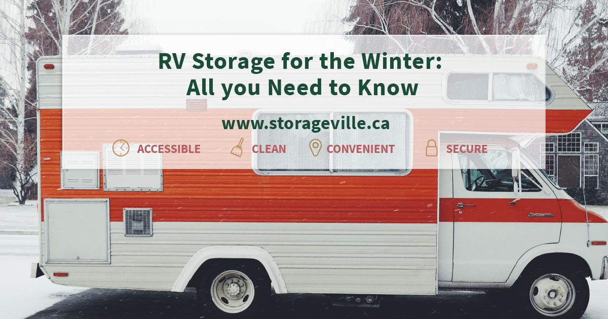 store your RV for the winter with storageville.
