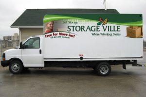 free cube van for customers use
