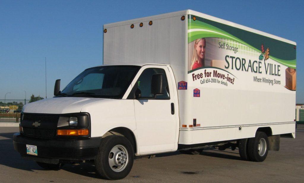 free mocing van rental with storage